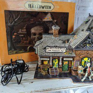 Dept 56 800000 rickety railroad station Halloween
